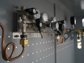 Рампа с автоматической панелью переключения